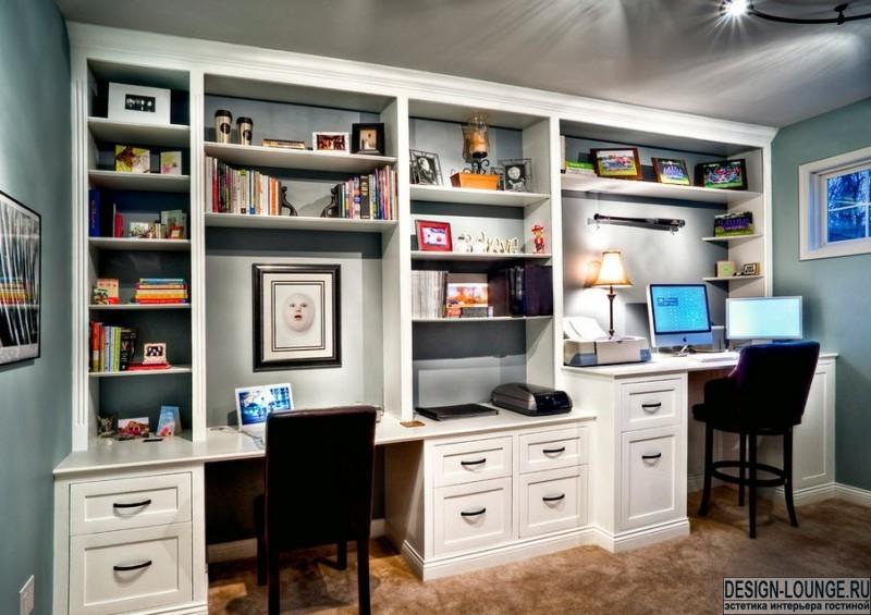 Дизайн гостиной с компьютерным столом: как обыграть рабочее .