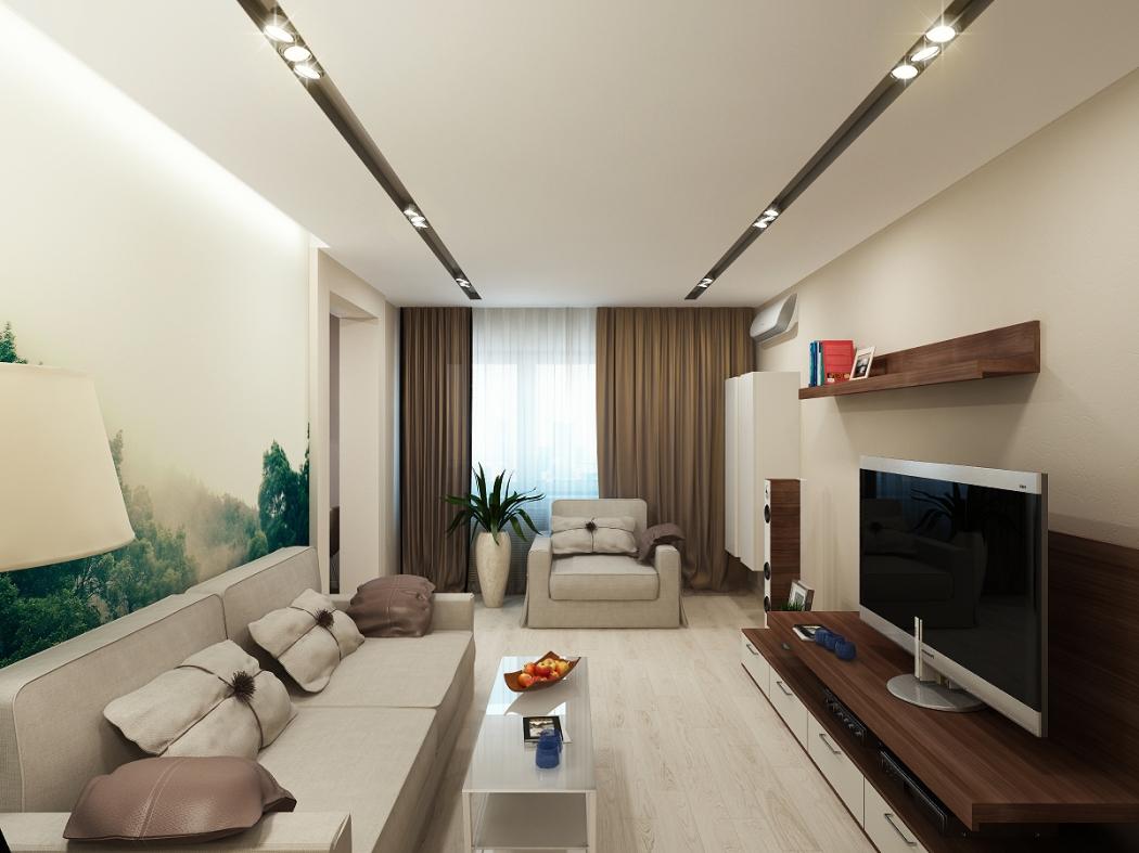 Современный дизайн гостиной в квартире