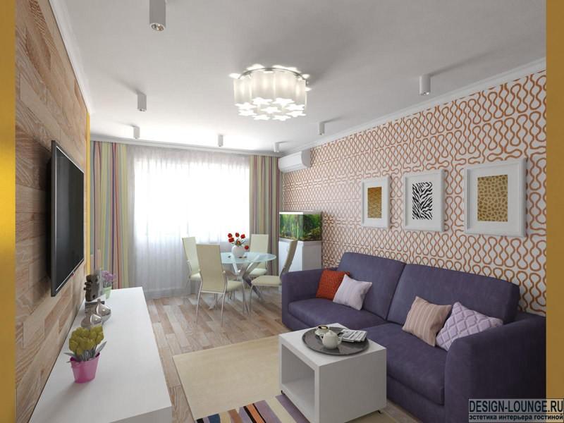 Комфортный и эффектный интерьер: дизайн двухкомнатной Интерьер дизайн двухкомнатной квартиры новые