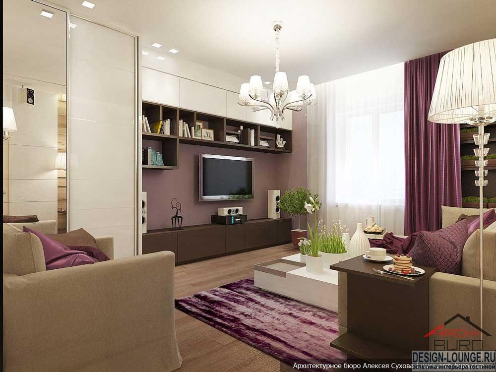 Дизайн 18 метровой комнаты