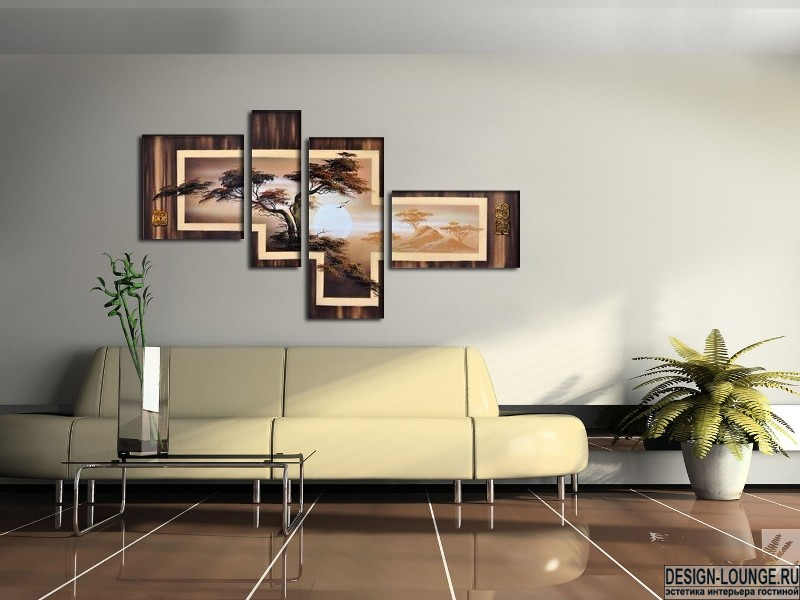 Картины в рамках на стене своими руками 457